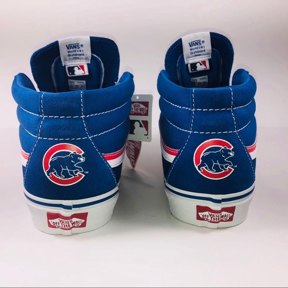 66528b446c VANS SK8 Mid MLB Cubs Classic Blue Skateboard Shoe